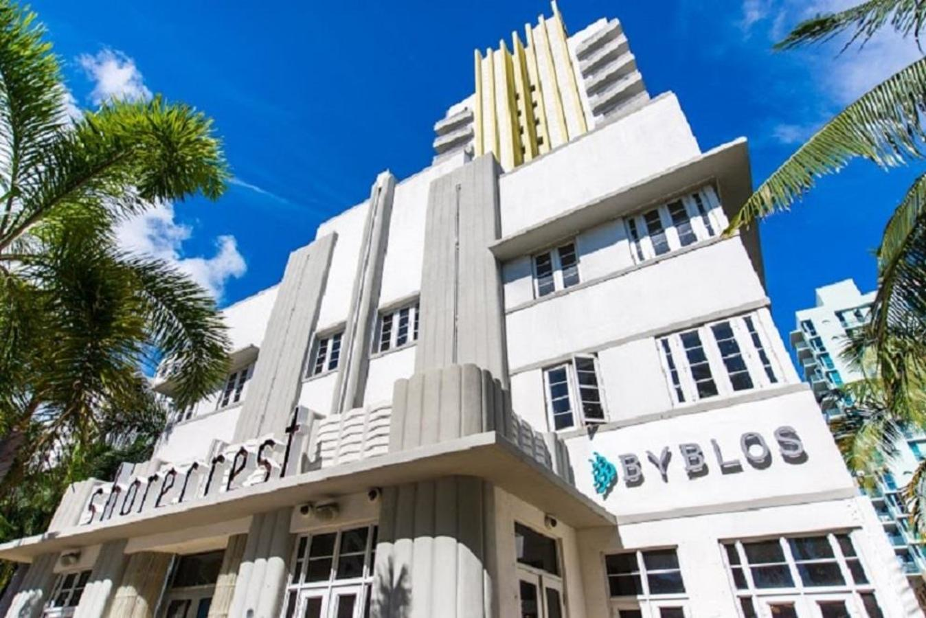 Face of the Shorecrest building, the home of Byblos Miami