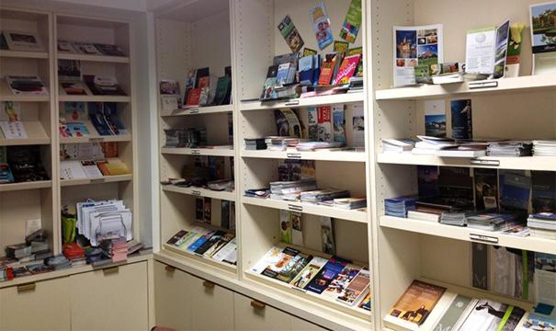 Brochures room for visitors