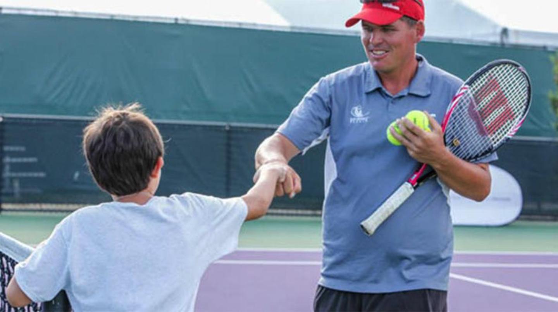 Training at Crandon Tennis Center