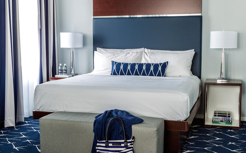 Deluxe Zimmer mit einem Kingsize-Bett