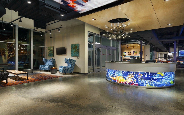 Aloft lobby area