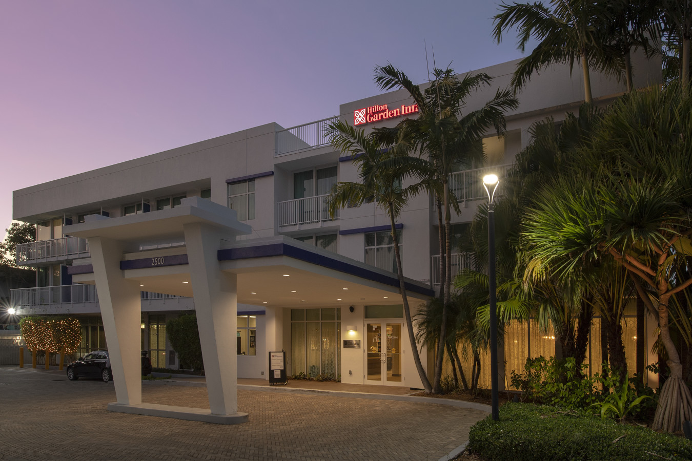 Hotel Night Exterior