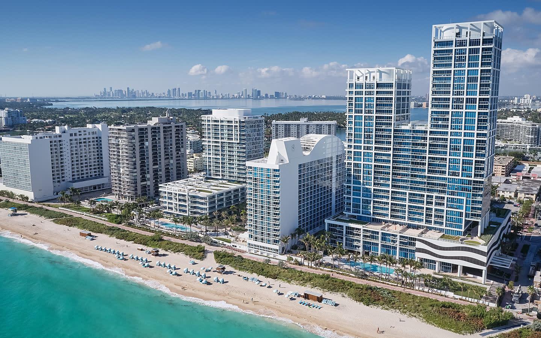 Carillon Miami hotel aerial view