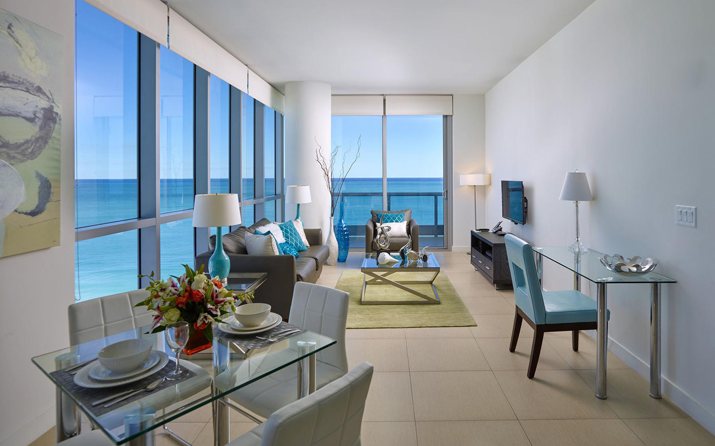 Oceanfront One-Bedroom Apartment