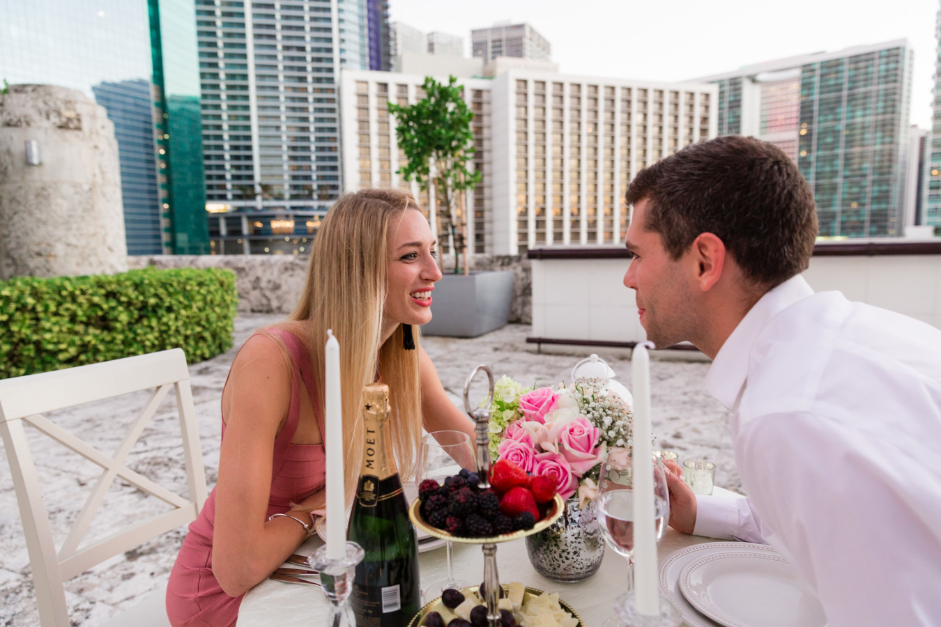 Rooftop dinner in Miami
