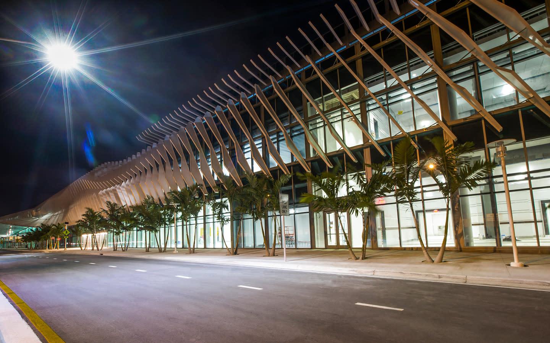 Miami Beach Convention Center at night