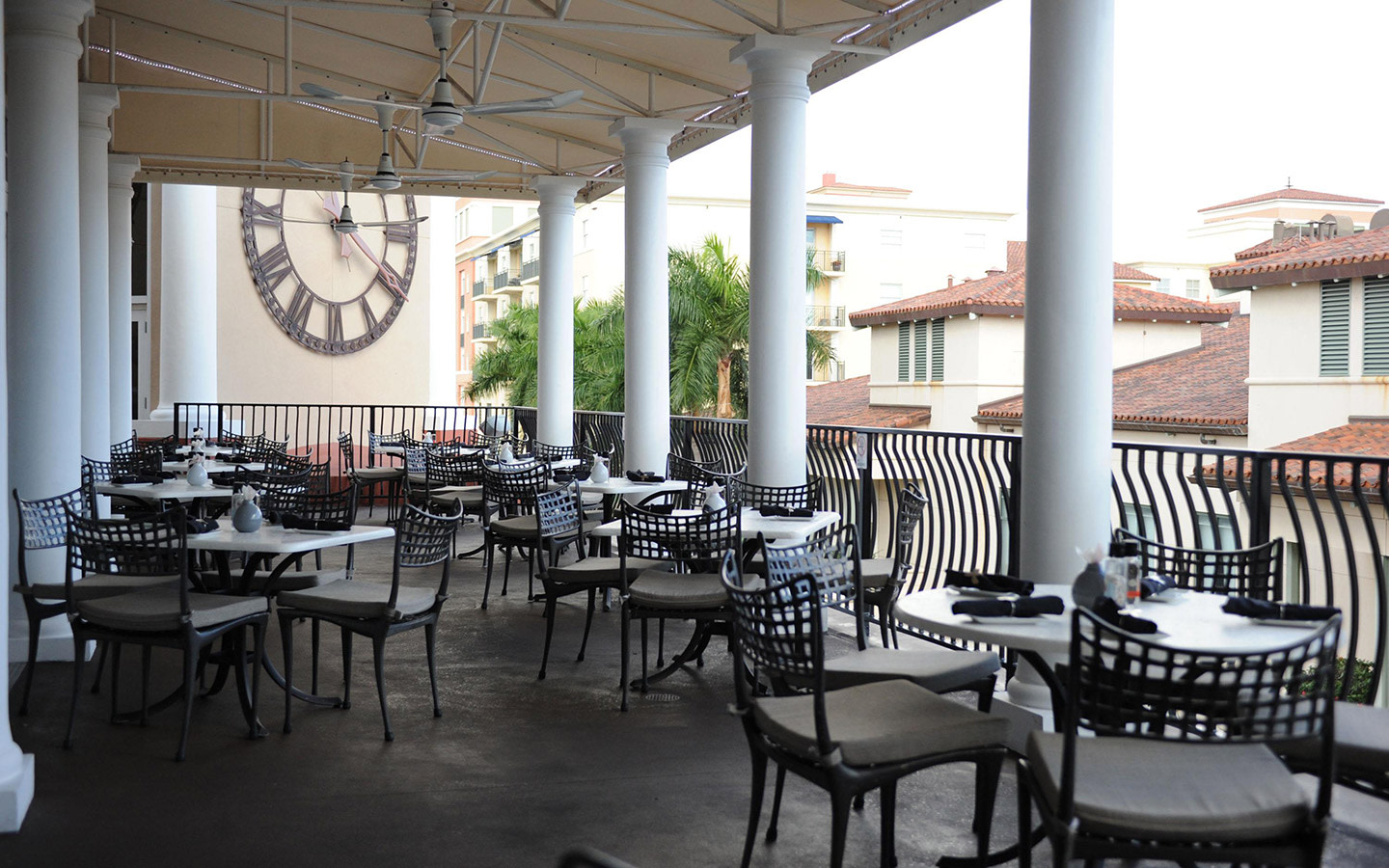 Patio overlooking Village of Merrick Park