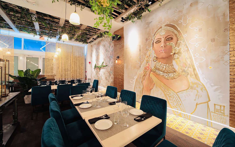 Maska印度厨房和酒吧内部
