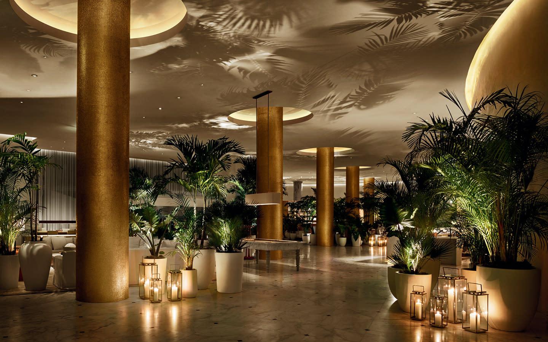 Lobby in evening