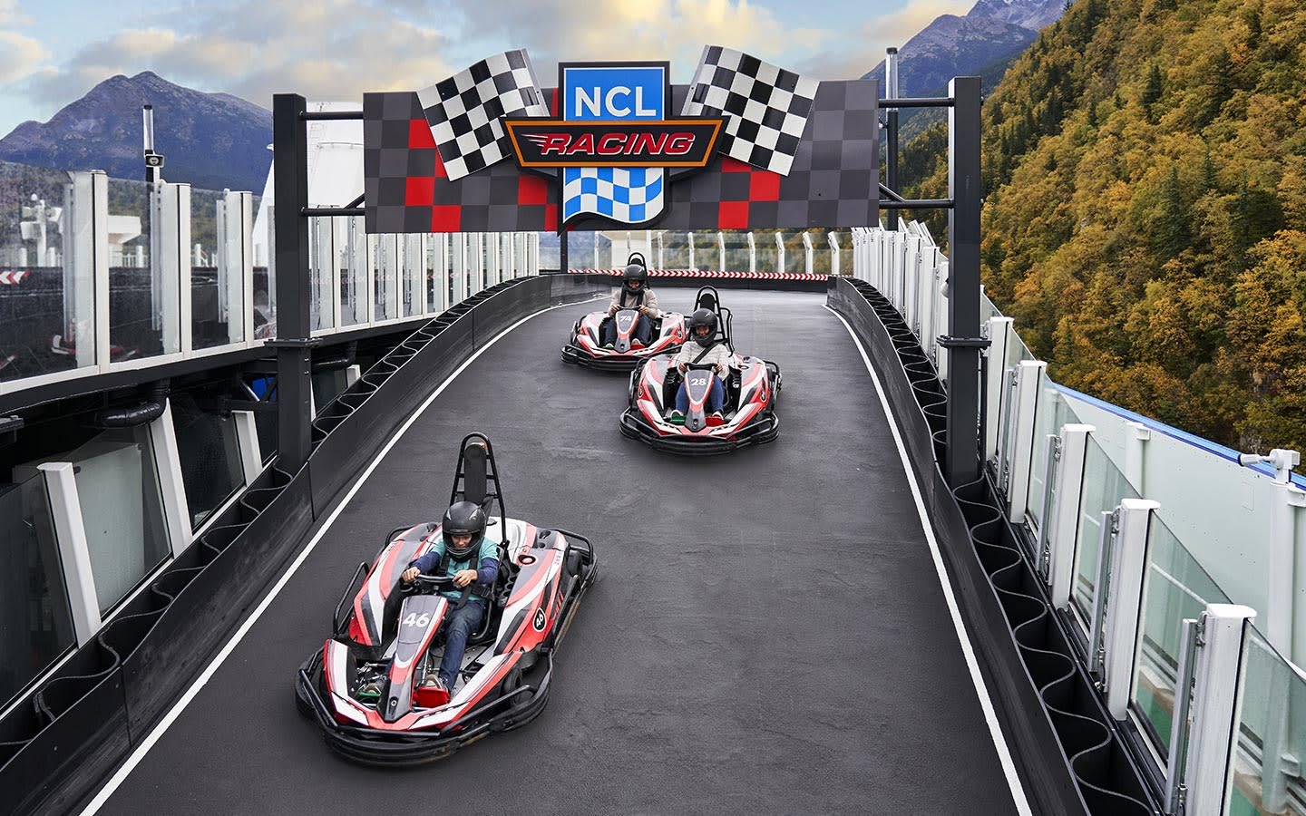 NCL Bliss Go Kart racetrack