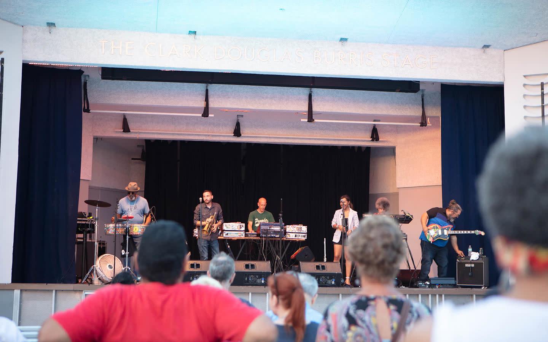 Band playing at North Beach Bandshell