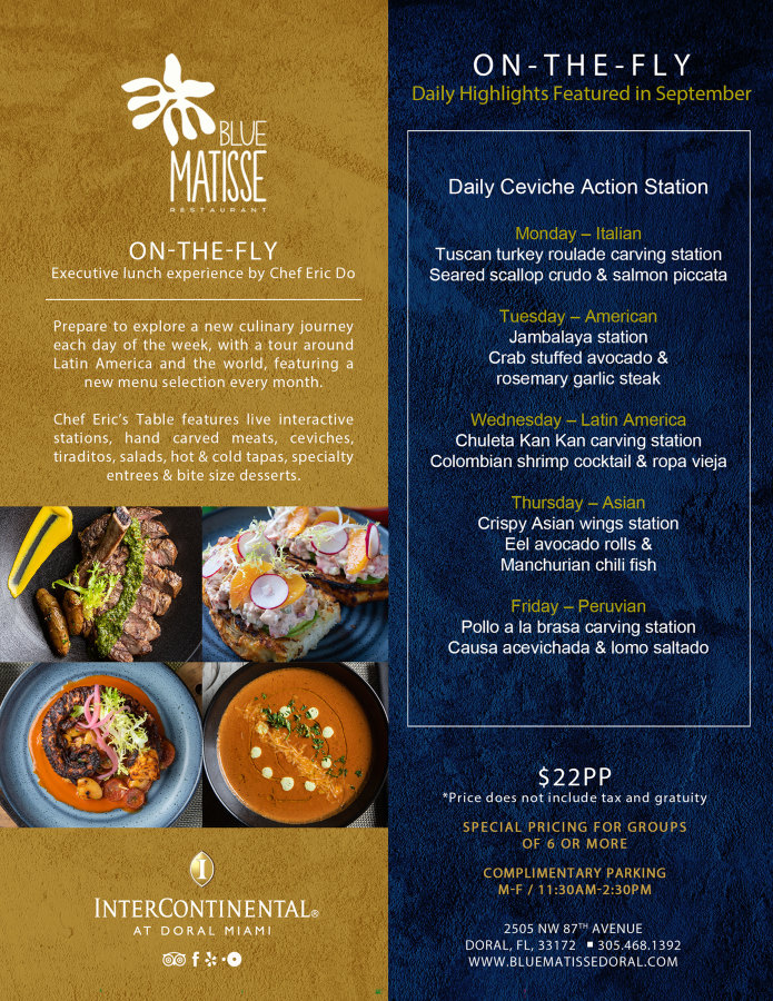 September On-The-Fly Lunch Menu