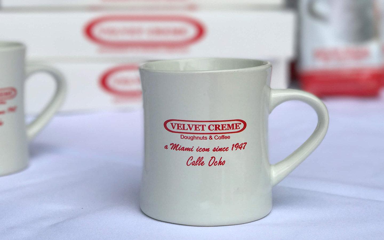 Velvet Creme Doughnuts & Coffee
