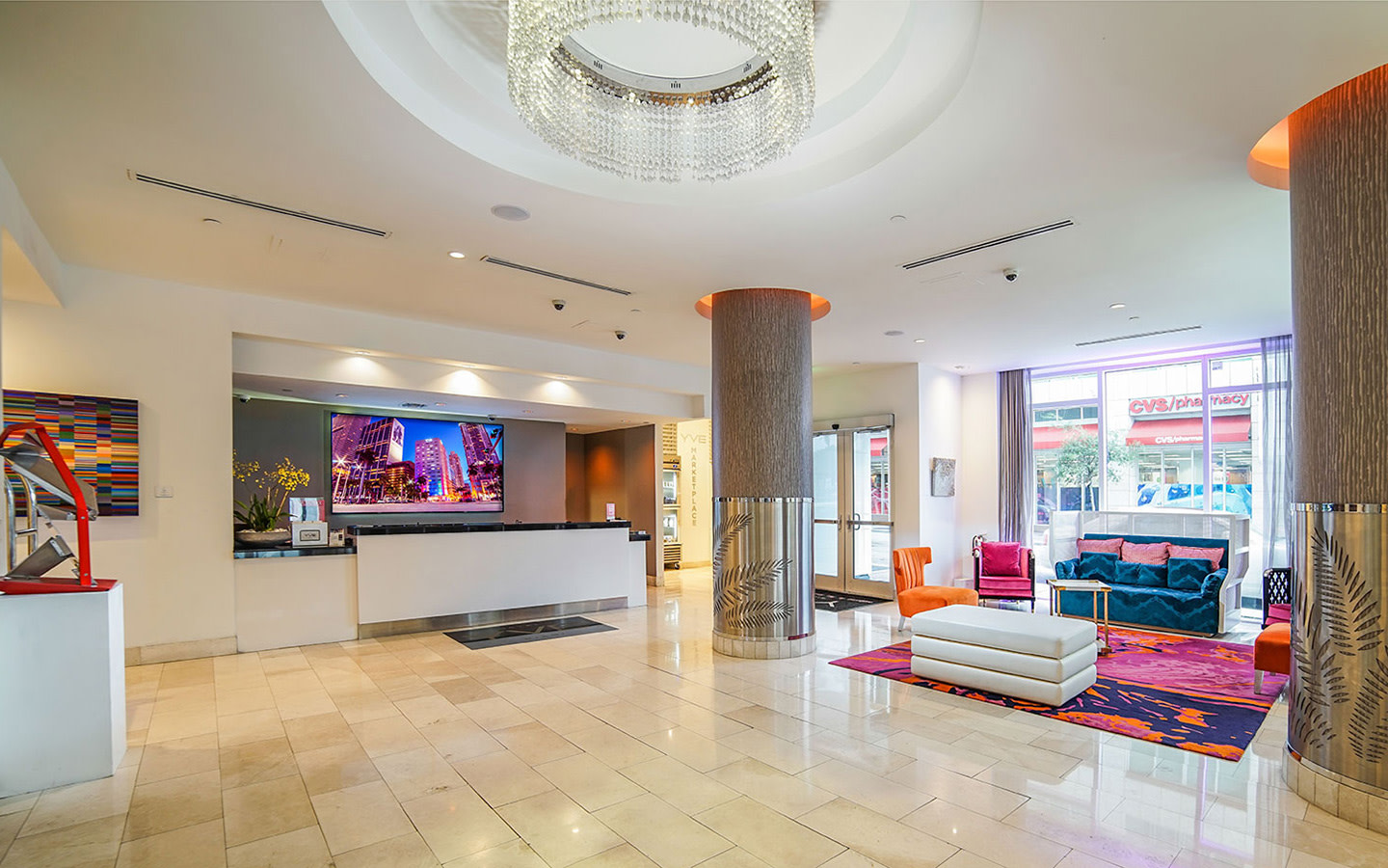 Yve Hotel Lobby and Front desk
