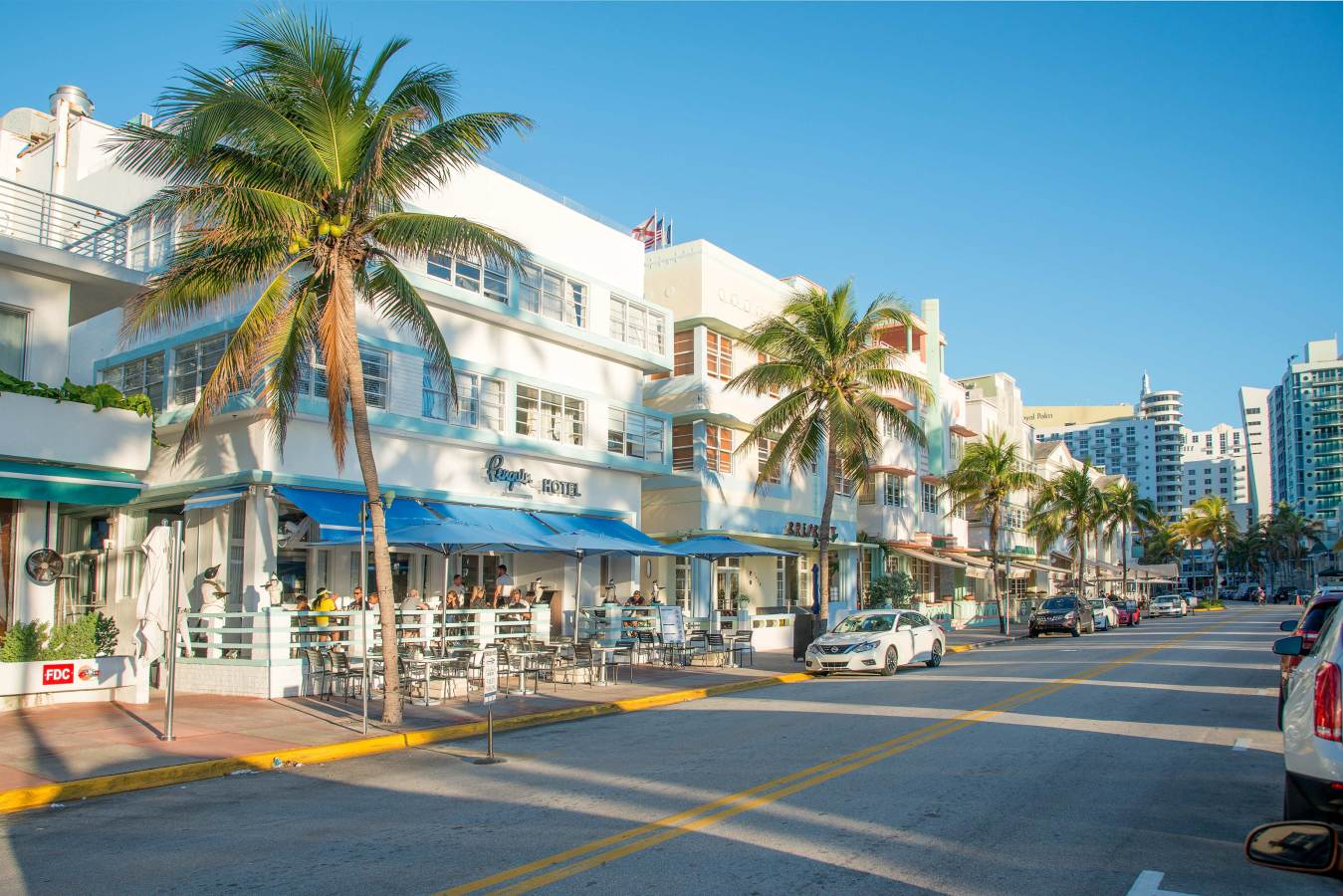 Penguin Hotel Street View on Ocean Drive