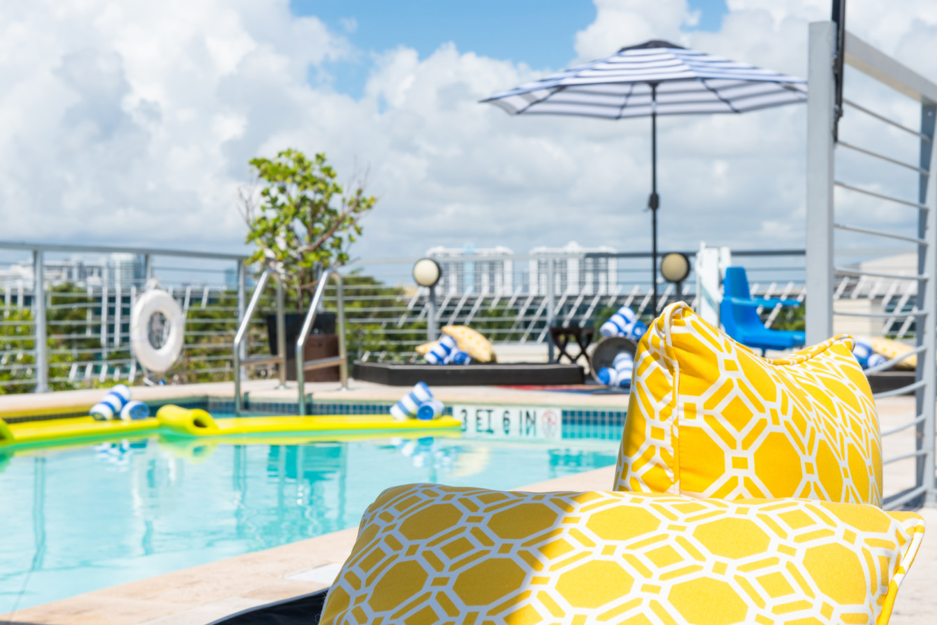 Rooftop Pool at the Riviera Suites South Beach
