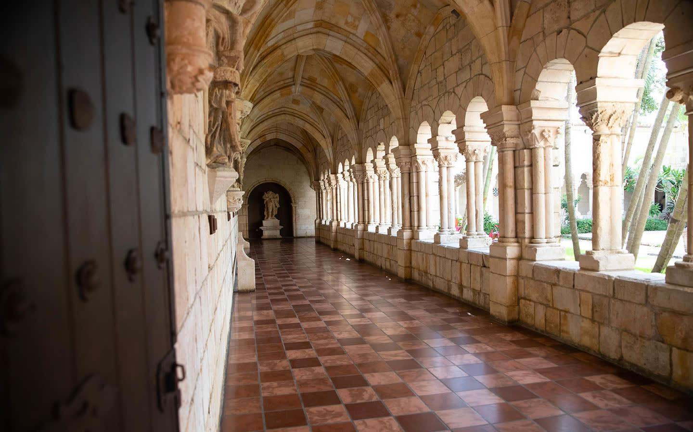 Ancient Spanish Monastery Hallway