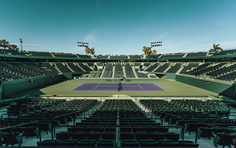 Arial View of Crandon Park International Tennis Center