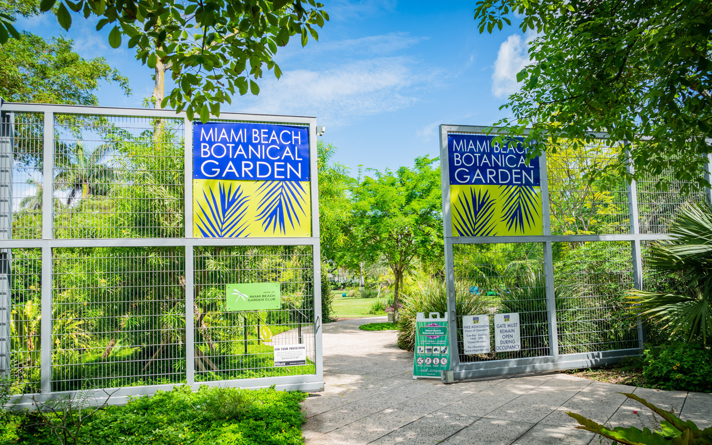Miami Beach Botanical Garden Entrance