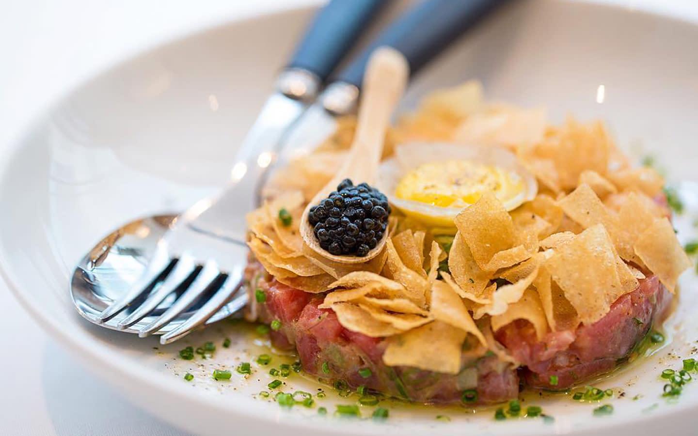 Tuna Tartare and Oscietra Caviar