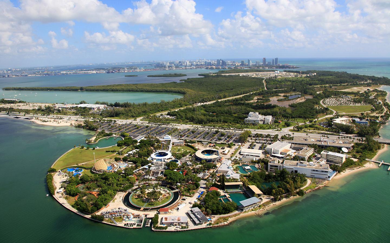 Seaquarium aerial view