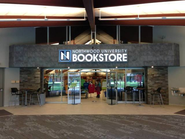 The front of the bookstore