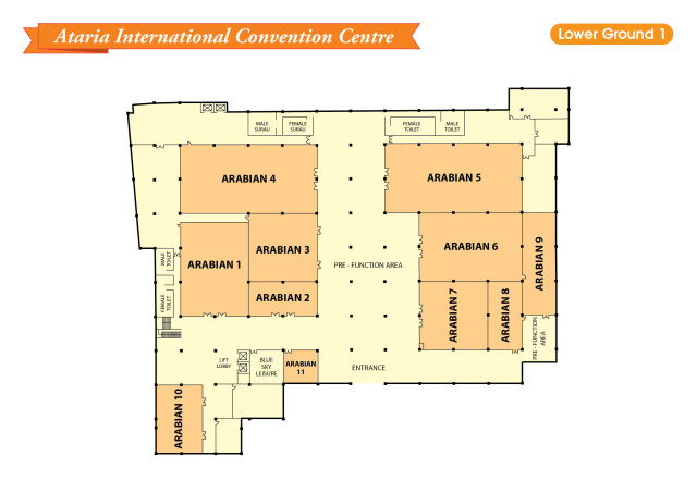 Venues on AICC Lower Ground