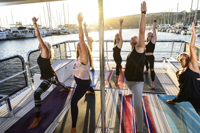 Exclusive Yacht Yoga Experience w/ iHeartYoga - up to 8 ppl PROMO Code: VisitDP
