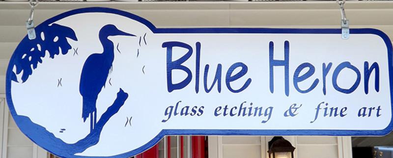 Blue Heron Glass Etching (2)
