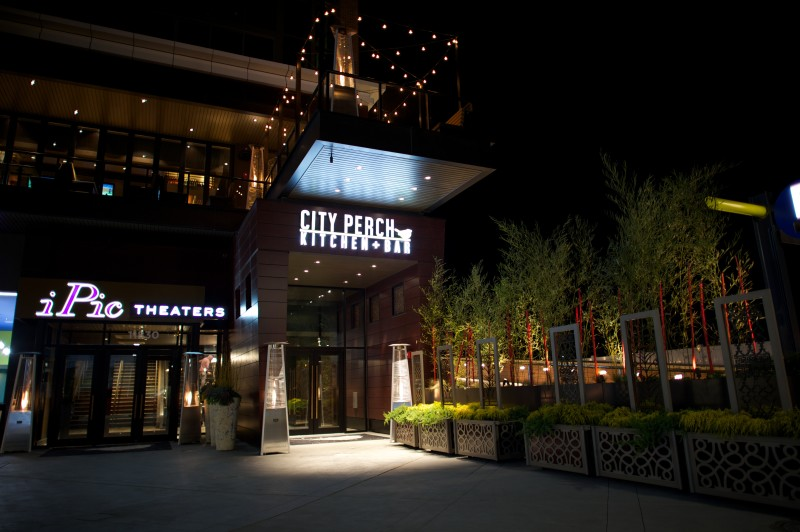 City Perch and iPic Entrance -- Night