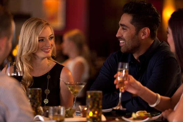 Couple dining at Quattro