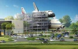 shuttle with 747