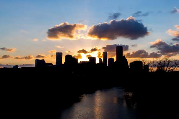Houston Skyline Dawn