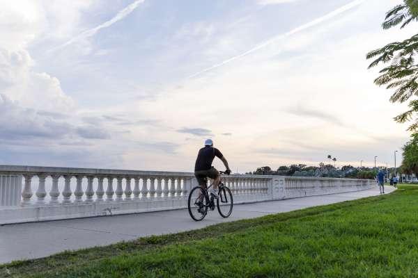 Bayshore Boulevard biker