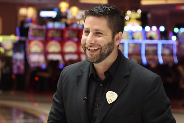 Bojan Ilić smiling at the Hard Rock Casino