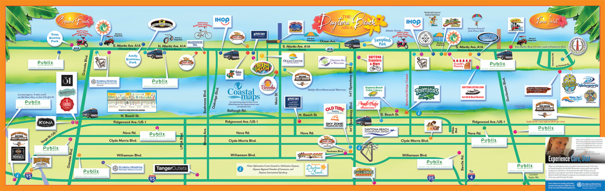 Daytona Beach Area Attractions Map | Things to Do in Daytona on