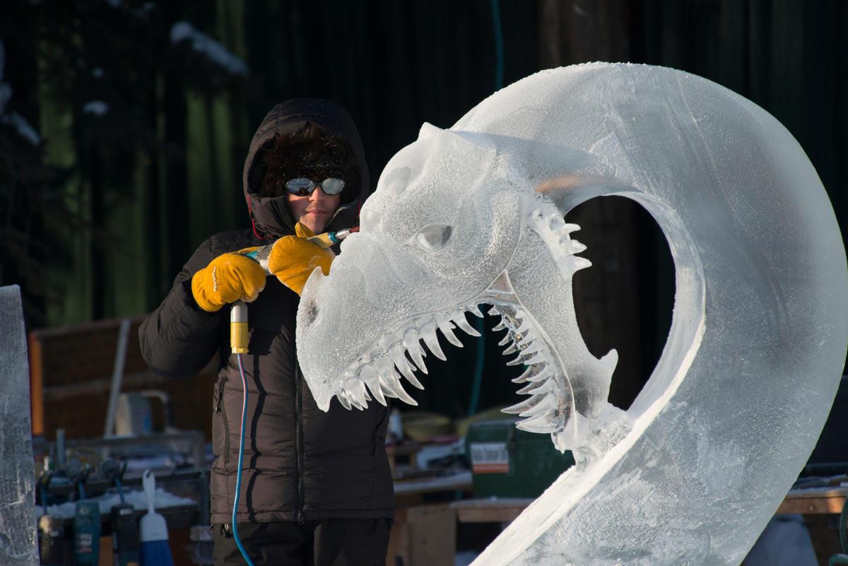 Fairbanks Ice Festival 2020 Ice Sculpture Viewing   Fairbanks, Alaska