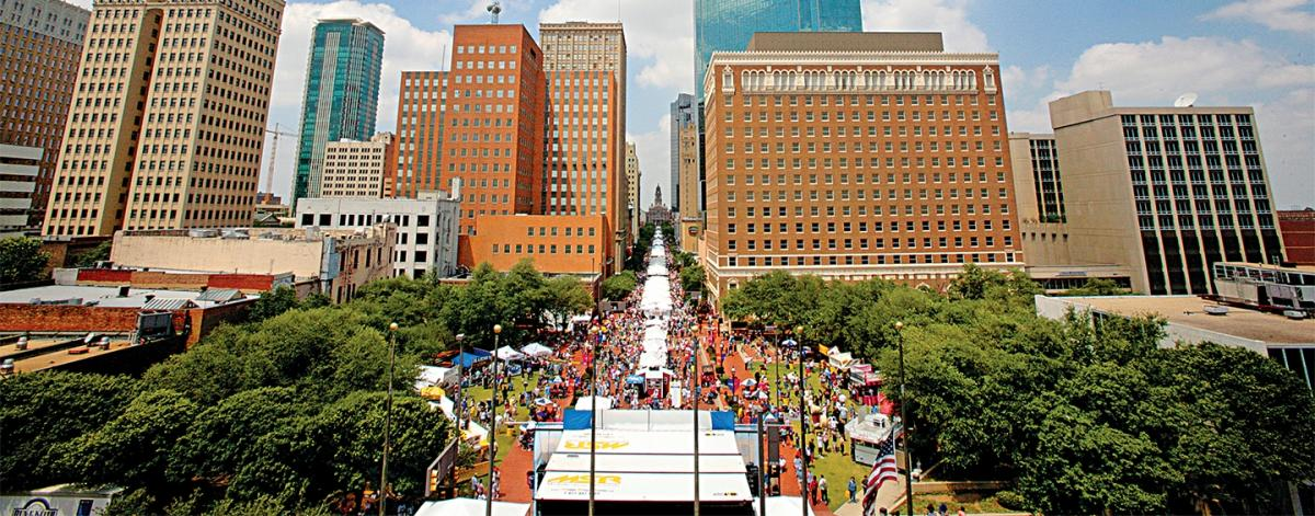 Experience the free fort worth main street arts festival - American gardens west 7th fort worth ...