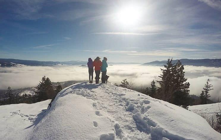 3fbbb70852 Winter Friendly Hikes in Kelowna