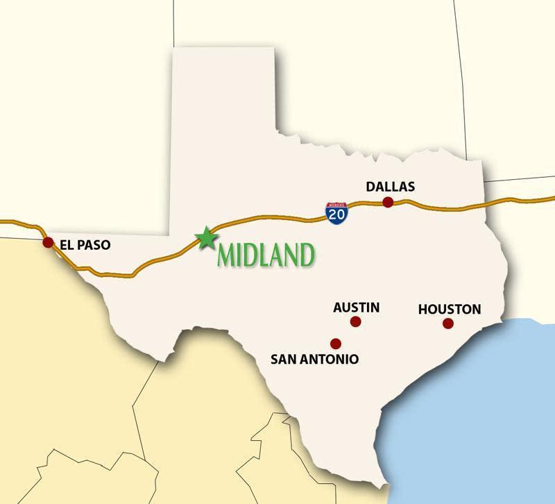 Midland Texas Map Midland Transportation | Visit Midland Texas