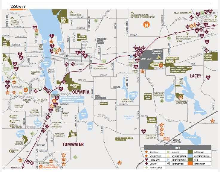 Map Of Olympia Wa Thurston County Map | Explore Olympia, Lacey & Tumwater