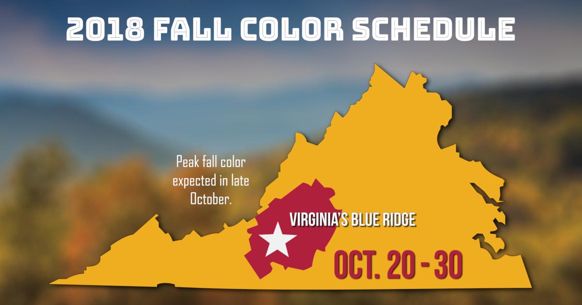 2018 Fall Color Schedule For Virginias Blue Ridge
