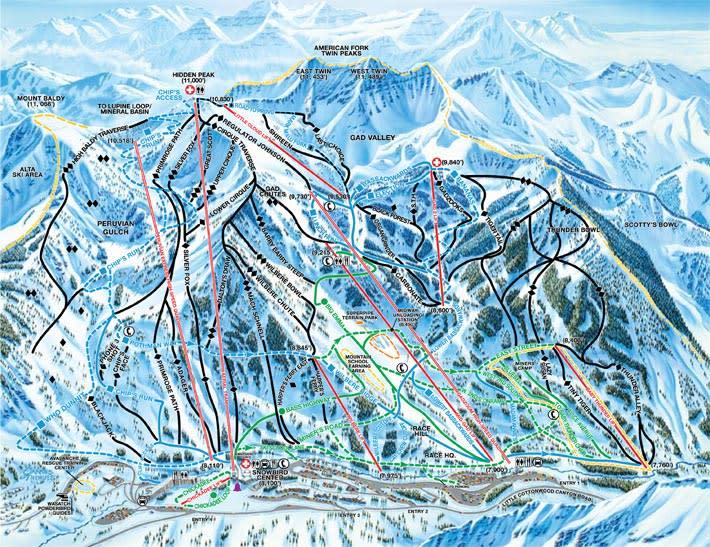 Snowbird Ski Trail Maps Ski City