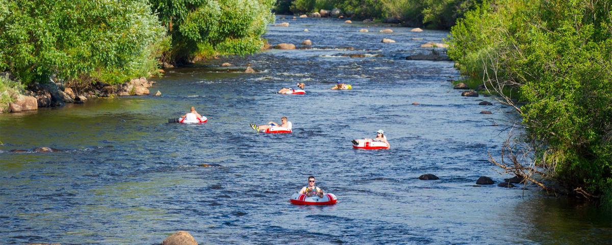 Tubing The Yampa River At Steamboat Springs Colorado