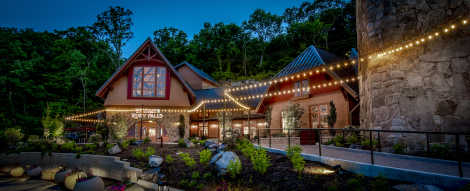 Ruby Falls Venue at Night
