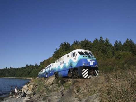 Sounder Train along the Puget Sound