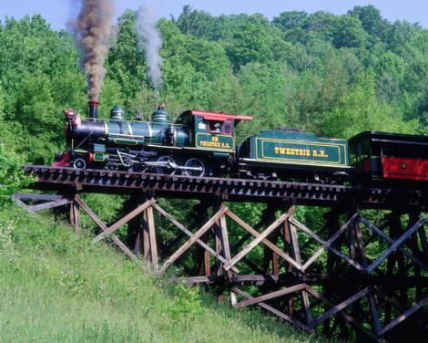 The Tweetsie Train on the Trestle | Boone, NC