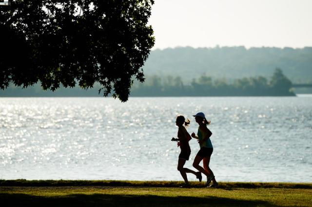 Running Along Waterfront