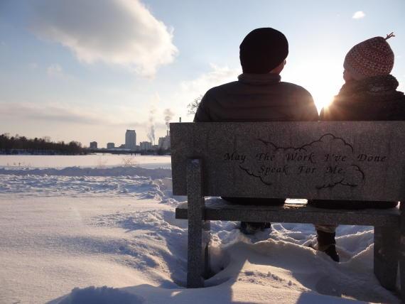 Winter Skyline at Silver Lake