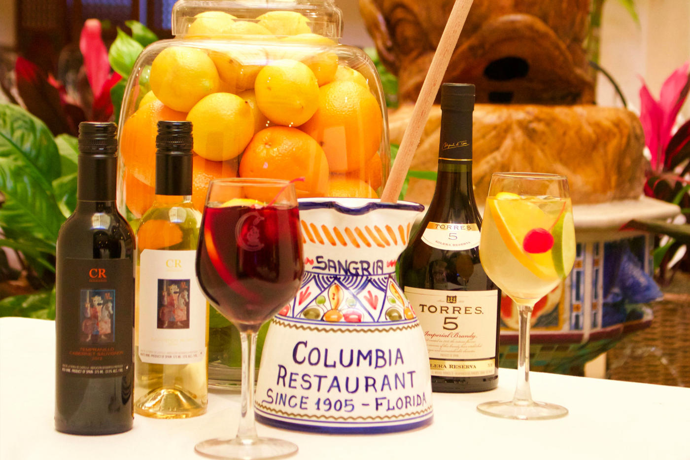Pictured Above: Sangria Pitcher from the Columbia Restaurant